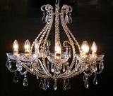 シャンデリア-8灯-アクリルクリア装飾アンティーク/豪華クリスタル装飾