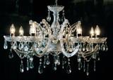 シャンデリア-8灯-アクリルクリアフレーム豪華装飾/クリスタル装飾/折り畳み可能