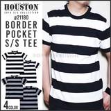 【2016年 夏物新作】【HOUSTON】ボーダー柄ポケットTシャツ