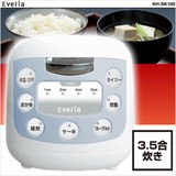 【5月下旬頃入荷予定】コンパクトでおいしく炊ける★コンパクト3.5合炊き 炊飯器 KH-SK100★