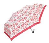 【フェリア・マーレ】婦人用折りたたみ雨傘 チューリッププリント