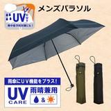 ◆2016S&S新商品◆ 紳士用折りたたみ雨傘  遮光テープたたき