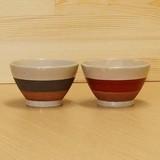 三色モノトーン 飯碗 (黒/赤)