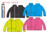 表タフタ裏メッシュJK(4色/トリコロールZIP仕様)/110〜160cm