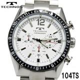 【TECHNOS】クロノグラフ 腕時計 メンズ TSM104