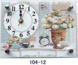 ローズ柄の置時計