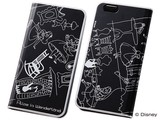 iPhone6/6s/【Disney】スマホケース メタルブックレザーケース