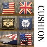 【フラッグシリーズ】クッション[USA・UK・ROUTE66・AIR FORCE・TARGET・LIBERTY]<アメ雑>