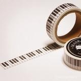 マスキングテープ/ピアノの鍵盤