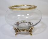 Interior Flower Vase Glass Brass