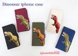 【iphone6/6s対応】【新ブランド】恐竜刺繍が個性的★【恐竜のiphoneケース】