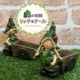 半額セール!リッチ&テール木車と妖精【ガーデニング雑貨】【園芸】