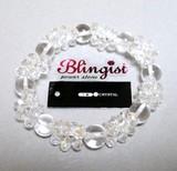 ☆Blingist Brace クリスタル10mm玉パワーストーンブレス