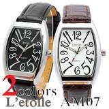 【L'etoile】ビッグフェイス メンズ 腕時計 AM07