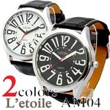 【L'etoile】ビッグフェイス メンズ 腕時計 AM04