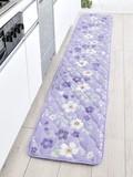 【 SALE  この春値下げしました】キルトマット アラモードフラワー < パープル 紫 花柄 >