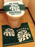 ハワイアントイレマット&カバーセット(洗浄機能付きタイプ用)・インテリアマット