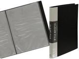 【書類などの整理に便利なポケットファイル】A4クリアファイル40p ブラック