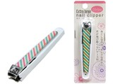 Attached Case Fingernail Clippers Large Fingernail Clippers Stripe