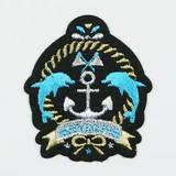 エンブレムワッペン ガール イルカ【ハンドメイド】