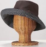 【直送可】【送料無料】ラタン帽子スタンド(小物掛けフック付き)2個組