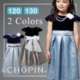 SALE【CHOPIN】異素材ミックス ワンピースドレス