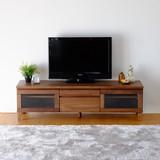 TVボード 幅150cm (ミディアムブラウン)【FL-11】