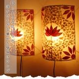 ロータスの花びらが浮かび上がる華やか壁掛けランプ【シェルロータス壁掛けランプ】アジアン雑貨