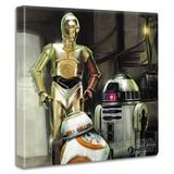 【スターウォーズ】EP7のファブリックパネル インテリア アート 雑貨 BB-8/R2D2/C3PO