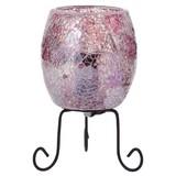 ミニモザイクランプ ミラーガラス ピンク
