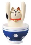 concombre 茶碗からあいさつカードスタンド【ねこ】【ネコ】【猫】