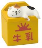 concombre 牛乳箱こもの入れ【ねこ】【ネコ】