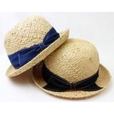 【SALE】RAFFIA BOWLER HAT(ラフィア ボーラー ハット)