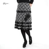【追加中】【ミセス】【M〜L】レースティアードスカート u102613