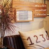 万年カレンダー【WOODEN PERPETUAL CALENDAR】ウッデン パーペチュアル カレンダー