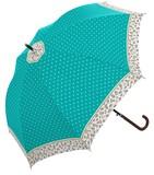2016 S/S Flower Dot Ladies Glass Fiber Specification One push Umbrellas