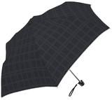 2016SS★シルバーコーティング晴雨兼用傘【エンボス格子フリル】 ☆50cm楽々ミニ