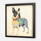 【ポップアート】コラージュシリーズ フレンチブルドッグ 2460038-【動物/犬】