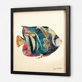 Gift Show Pop Art Collage Series Tropical Fish Animal