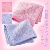 ローズドットハンドタオル / バラ柄 エレガント