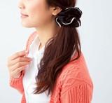 レース シフォンシュシュ / ヘアゴム 髪飾り 正装
