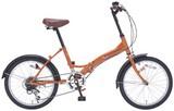20インチ6段ギア折畳自転車 オレンジ / ギフト ノベルティ グッズ