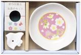 彩り豆皿とお香のセット / ギフト ノベルティ グッズ