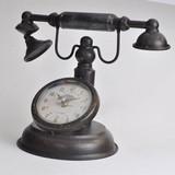 【8月21日から31日まで10%分引きセール!】【アンティーク電話時計】ラウンド