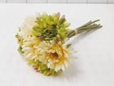 ポンヌフブーケ ガーベラ ホワイト ☆お部屋が華やかになる造花・フェイクフラワー
