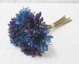 ポンヌフブーケ ガーベラ ブルー ☆お部屋が華やかになる造花・フェイクフラワー