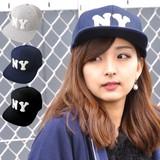 """スエット パッチ """"NY"""" フラットバイザー ベースボールキャップ BASEBALL CAP"""