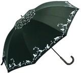 ●UVカット率99%●晴雨兼用ネコ&ローズ
