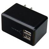 ヤザワコーポレーション AC/USB変換アダプター2USB3.1A ブラック