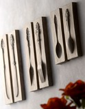 食器モチーフのアンティーク仕上げプレーク(壁掛け)セット